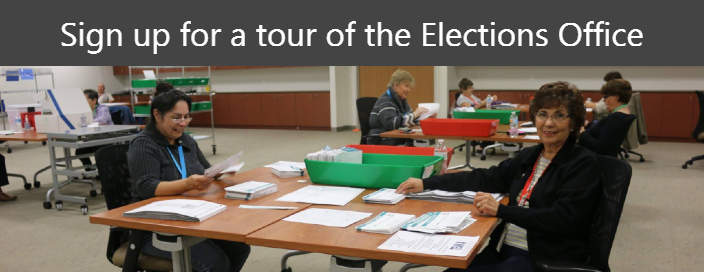 Sign up for a tour of the Elections office!