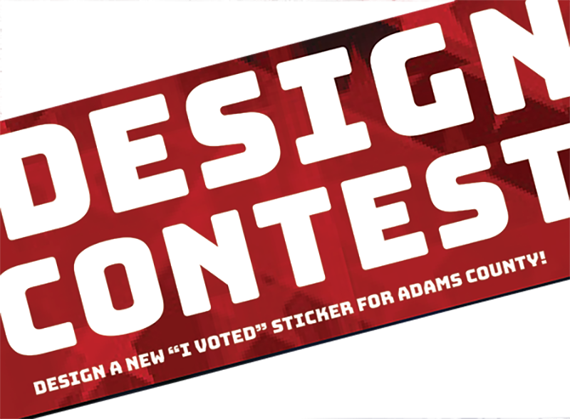 I Voted Sticker Design Contest